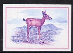 Lesotho 1984 Oribi Calf 30s (from Baby Animals issue) imperf progressive proof in magenta & blue only*