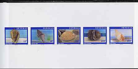 Senegal 1997 Shells complete set of 5 (Se-tenant strip) deluxe sheet on thin card