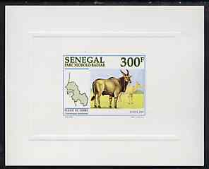 Senegal 1997 Eland 300f from National Park set, deluxe sheet on sunken glossy card