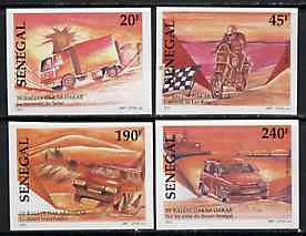 Senegal 1997 Dakar Rally complete set of 4 imperf from limited printing unmounted mint