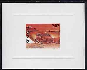 Senegal 1997 Ralley Car 240f from Dakar Rally set, deluxe sheet on sunken glossy card