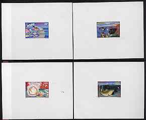 Senegal 1998 Marine Life complete set of 4 in deluxe sheets on sunken glossy card