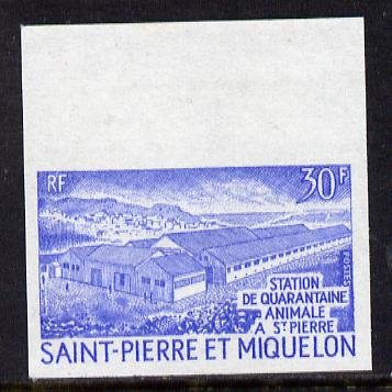 St Pierre & Miquelon 1970 Animal Quarantine 30f unmounted mint IMPERF colour trial proof (several colour combinations available but price is for ONE) as SG 485