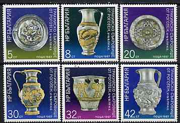 Bulgaria 1987 Treasures of Rogozen unmounted mint set of 6, SG 3415-20, Mi 3553-58*