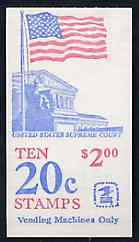 Booklet - United States 1982 Flag over Supreme Court $2 booklet containing panes SG 1924b (SB 114)