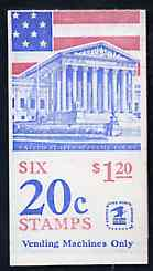 Booklet - United States 1981 Flag over Supreme Court $1.20 booklet containing panes SG 1924a (SB 112)
