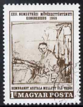Hungary 1969 The Scientist by Rembrandt 1fo fine cto used SG 2476