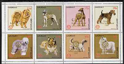 Gairsay 1998 Rotary Int opt in gold on 1984 Rotary -Dogs perf set of 8 values (11p to 44p) unmounted mint