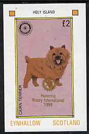 Eynhallow 1998 Rotary Int opt in gold on 1984 Rotary - Dogs �2 imperf deluxe sheet (Cairn Terrier) unmounted mint