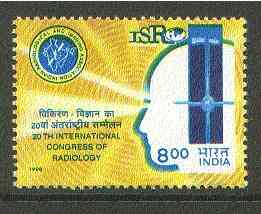 India 1998 20th International Congress of Radiology unmounted mint*