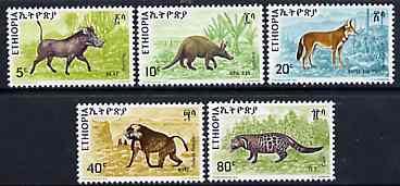Ethiopia 1975 Animals  set of 5 unmounted mint, SG 926-30*