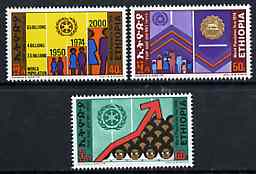 Ethiopia 1974 World Population Year set of 3 unmounted mint, SG 904-06*