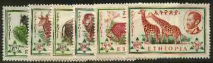 Ethiopia 1961 Ethiopian Fauna set of 6 unmounted mint, SG 517-22*