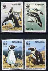 Namibia 1997 WWF - Endangered Species - Penguins set of 4 unmounted mint, SG 713-16*