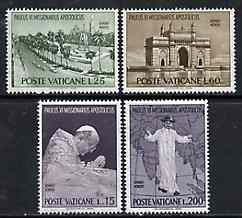 Vatican City 1964 Pope Paul's Visit to India set of 4 unmounted mint, SG 444-47*