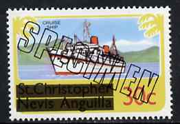 St Kitts 1980 Europa (Liner) 30c from opt