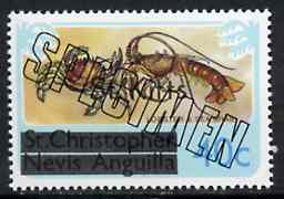 St Kitts 1980 Lobster & Sea Crab 40c from opt
