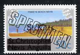 St Kitts 1980 Pinney's Beach 50c from opt'd def set, additionally opt'd SPECIMEN, as SG 37A unmounted mint