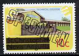St Kitts 1980 Technical College 10c from opt