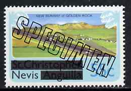 Nevis 1980 New Runway for Golden Rock Airport 55c from opt'd def set, additionally opt'd SPECIMEN, as SG 46 unmounted mint