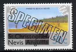 Nevis 1980 Pinney's Beach 50c from opt'd def set, additionally opt'd SPECIMEN unmounted mint, as SG 45