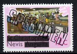 Nevis 1980 TV Assembly Plant 12c from opt'd def set, additionally opt'd SPECIMEN, as SG 39 unmounted mint