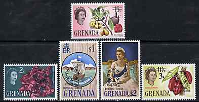 Grenada 1967 World Fair, Montreal set of 5 unmounted mint, SG 257-61*, stamps on nutmeg, stamps on cocoa, stamps on royalty, stamps on ships, stamps on flowers, stamps on food