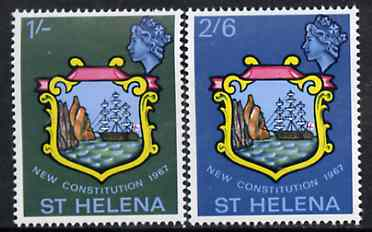 St Helena 1967 New Constitution set of 2 unmounted mint, SG 212-13*