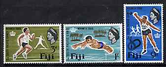 Fiji 1966 South Pacific Games set of 3 unmounted mint, SG 356-58*