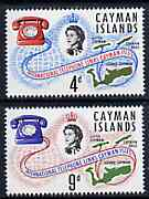 Cayman Islands 1966 International Telephone Links set of 2 unmounted mint, SG 198-99*