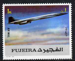 Fujeira 1972 Concorde 1R from Transport perf set unmounted mint, Mi 1291A*