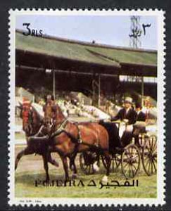 Fujeira 1972 Carriage Driving 3R from Transport perf set unmounted mint, Mi 1293A*