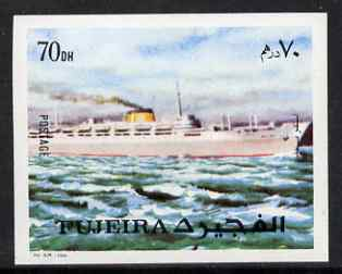 Fujeira 1972 Liner Ship 70dh from Transport imperf set unmounted mint, Mi 1290B*