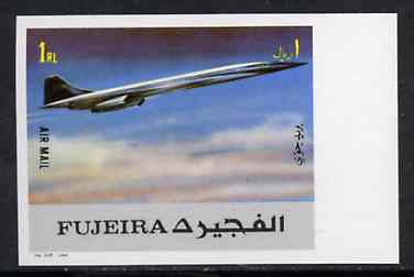Fujeira 1972 Concorde 1R from Transport imperf set unmounted mint, Mi 1291B*