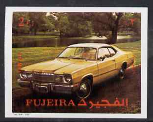 Fujeira 1972 Car 2R from Transport imperf set unmounted mint, Mi 1292B*