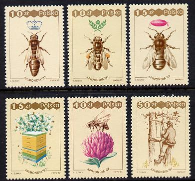 Poland 1987 Bee Keeping set of 6 unmounted mint, SG 3119-24