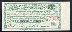 Cinderella - United States $15 Interest coupon for The Atlantic & Pacific Railroad Company Interest Bond