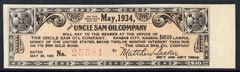 Cinderella - United States $10 Interest coupon for The Uncle Sam Oil Company $500 Gold Bond