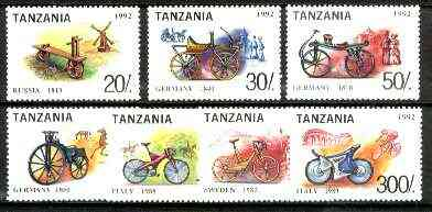 Tanzania 1992 Bicycles of the World set of 7 unmounted mint, SG 1493-99*