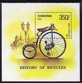 Tanzania 1992 Bicycles of the World m/sheet unmounted mint, SG MS 1500