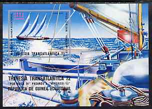 Equatorial Guinea 1973 Atlantic Regatta imperf m/sheet unmounted mint, Mi BL 54