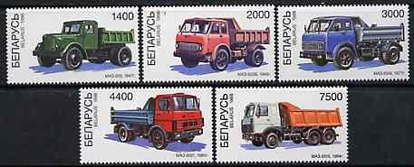 Belarus 1998 Modern Tipper Trucks set of 5 unmounted mint*