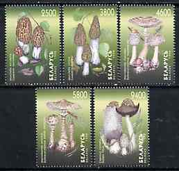 Belarus 1998 Mushrooms set of 5 unmounted mint (tete-beche pairs pro rata)