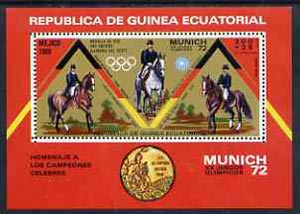 Equatorial Guinea 1972 Munich Olympics (5th series) 3-Day Eventing perf m/sheet unmounted mint, Mi BL 19