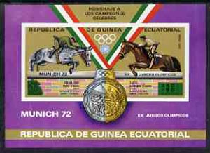 Equatorial Guinea 1972 Munich Olympics (5th series) 3-Day Eventing imperf m/sheet unmounted mint, Mi BL 20