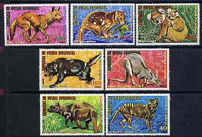 Equatorial Guinea 1974 Australian Animals perf set of 7 unmounted mint, Mi 467-73