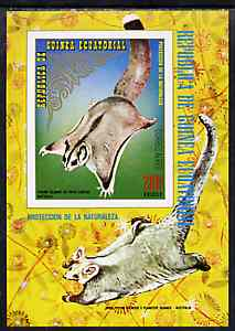Equatorial Guinea 1974 Australian Animals imperf m/sheet (Flying Fox) unmounted mint Mi BL 143