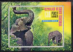 Equatorial Guinea 1976 Asian Animals perf m/sheet (Elephants) unmounted mint Mi BL 238
