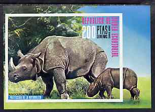 Equatorial Guinea 1976 Asian Animals (Rhino) imperf m/sheet unmounted mint Mi BL 239