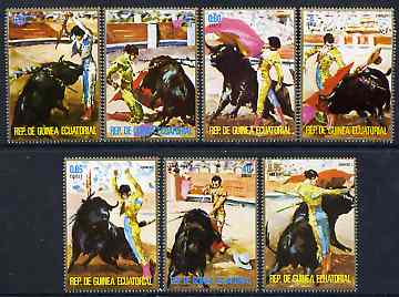 Equatorial Guinea 1975 Bull-Fighting perf set of 7 unmounted mint, Mi 579-85*